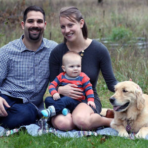 Vet Dr. Kyle Grusling with Family