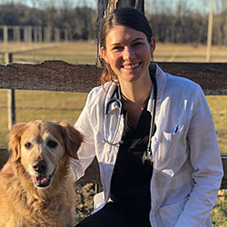 Vet Rachel Stawski and Dog